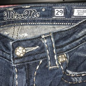 Gently worn Miss Me bootcut jeans size 29
